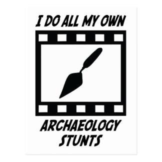 Archaeology Stunts Postcard