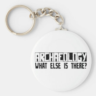 Archaeology What Else Is There? Basic Round Button Keychain
