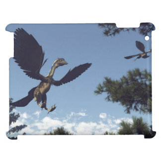 Archaeopteryx birds dinosaurs flying - 3D render Cover For The iPad 2 3 4