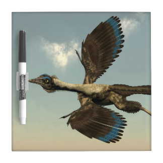 Archaeopteryx birds dinosaurs flying - 3D render Dry-Erase Board