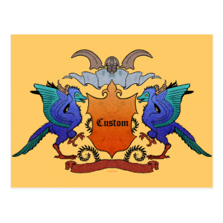 Archaeopteryx Coat of arms -Customizable- Postcard