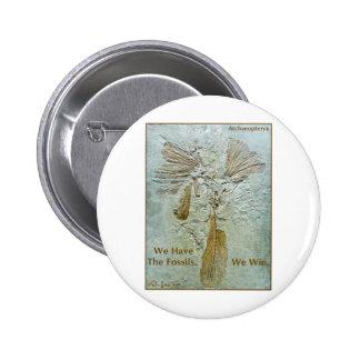 Archaeopteryx fósil del triunfo pin redondo 5 cm