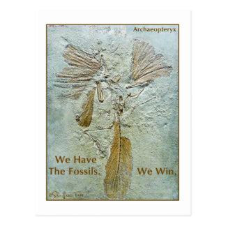 Archaeopteryx fósil del triunfo tarjeta postal