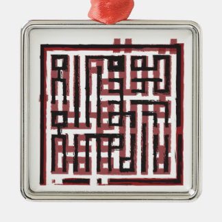 Archaic Red&Black Metal Ornament