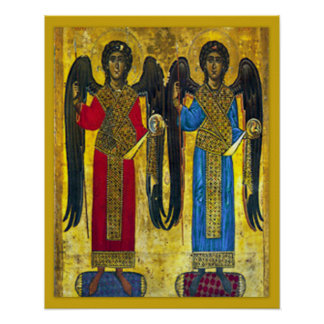 Archangel Angel Michael and Gabriel Icon Poster