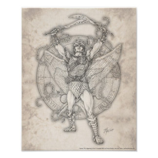 Archangel Camael Print