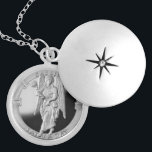 """Archangel Cassiel locket<br><div class=""""desc"""">Locket containing image of the Archangel Cassiel. The Angel of Saturday. Cassiel is the Latin name of an archangel in post-biblical Judeo-Christian religion, particularly that of the Kabbalah. Unlike many other angels, Cassiel is known for simply watching the events of the cosmos unfold with little interference. He is the angel...</div>"""