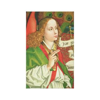 Archangel Gabriel Annunciation - Martin Schongauer Canvas Print