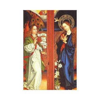 Archangel Gabriel - Annunciation - Schongauer Canvas Print
