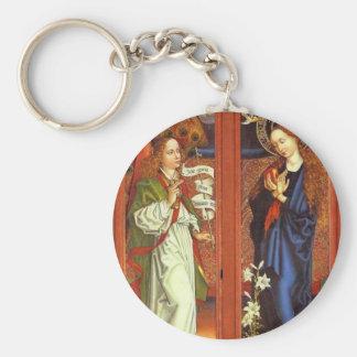 Archangel Gabriel - Annunciation - Schongauer Keychain