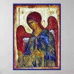 Archangel Gabriel Byzantine Art Print