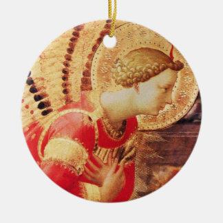 ARCHANGEL GABRIEL Ruby Gem stone Ceramic Ornament