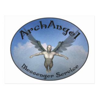 archangel messenger service postcard