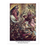 Archangel Michael And Satan By Jacopo Tintoretto Postcards