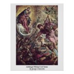 Archangel Michael And Satan By Jacopo Tintoretto Posters