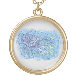 Archangel Michael Art Pendant Charm Necklace