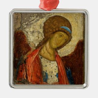 Archangel Michael c1414 Square Metal Christmas Ornament