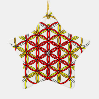 Archangel Michael Delight Double-Sided Star Ceramic Christmas Ornament