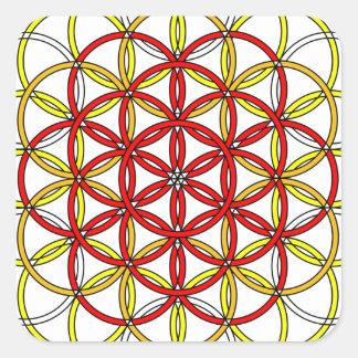 Archangel Michael Delight Square Sticker
