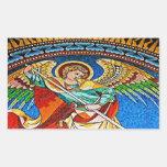 Archangel Michael Mosiac, Kaiser Wilhelm Church Rectangular Sticker
