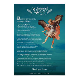 Archangel Michael Prayer Poster