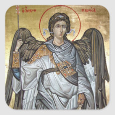 Archangel Michael Square Sticker