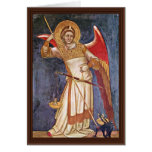 Archangel Michael Weighing A Soul By Guariento Greeting Card
