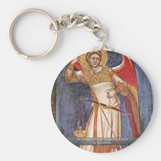 Archangel Michael Weighing A Soul By Guariento Key Chains