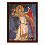 Archangel Michael Weighing A Soul By Guariento Postcard