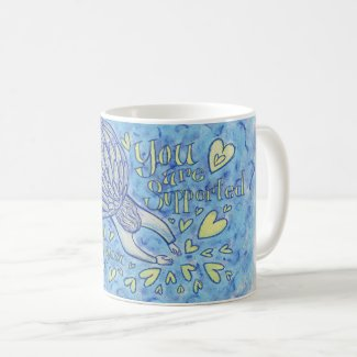 Archangel Michael's Support Art Custom Coffee Cup