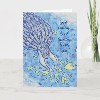 Archangel Michael's Support Custom Greeting Cards