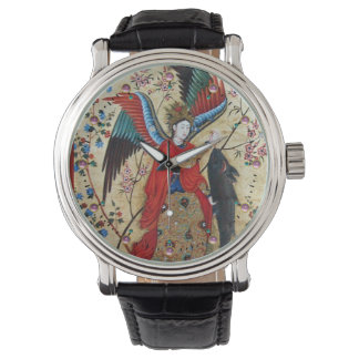 ARCHANGEL RAPHAEL AND FISH PARCHMENT WATCH