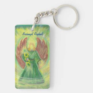 Archangel Raphael and Gabriel Keychain