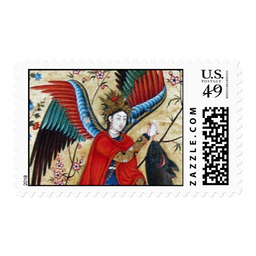 ARCHANGEL RAPHAEL AND THE FISH STAMP