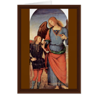 Archangel Raphael And Tobias Small Greeting Card
