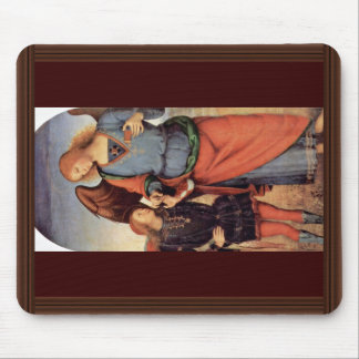 Archangel Raphael And Tobias Small Mouse Pad