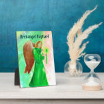 """Archangel Raphael Display Plaque w/ easel<br><div class=""""desc"""">Archangel Raphael Display Plaque,  great for table top/ desk top for daily inspiration. 5&quot;x7&quot; UV resistant gloss</div>"""