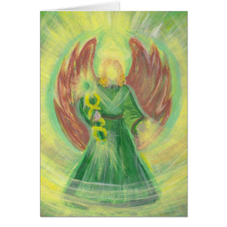 Archangel Raphael Greeting Card w/ Message