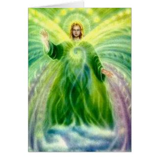 Archangel Raphael Healing Light Birthday Card