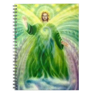 Archangel Raphael Healing Light Spiral Notebook