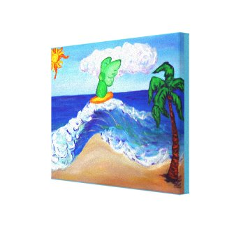 ​Archangel Raphael Surfing Wrapped Canvas Art