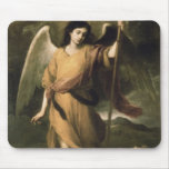 Archangel Raphael with Bishop Domonte Mouse Pad