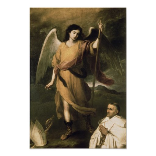 Archangel Raphael with Bishop Domonte Poster