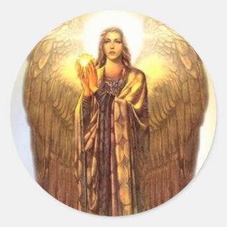 Archangel Uriel Classic Round Sticker