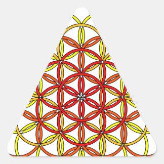 Archangel Uriel Delight Triangle Sticker