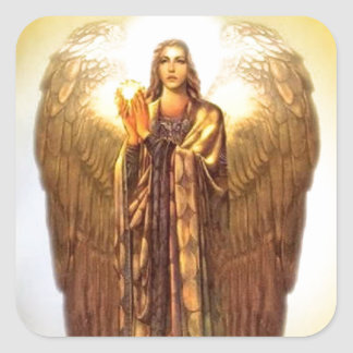 Archangel Uriel Square Sticker