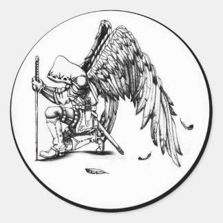 ArchAngel Warrior Classic Round Sticker