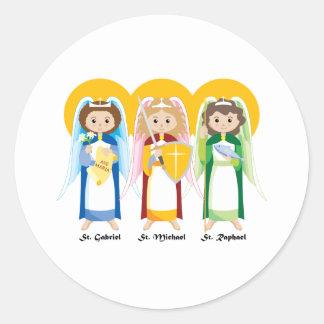 Archangels Classic Round Sticker