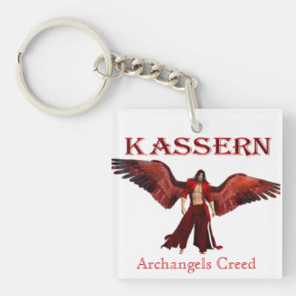 Archangels Creed Single-Sided Square Acrylic Keychain