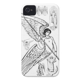 Archangels With Spear And Lizard iPhone 4 Cover
